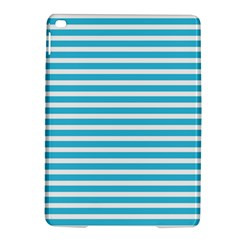 Horizontal Stripes Blue Ipad Air 2 Hardshell Cases by Mariart