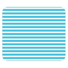 Horizontal Stripes Blue Double Sided Flano Blanket (small)  by Mariart