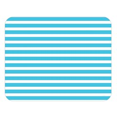 Horizontal Stripes Blue Double Sided Flano Blanket (large)  by Mariart