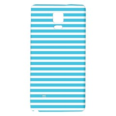 Horizontal Stripes Blue Galaxy Note 4 Back Case by Mariart