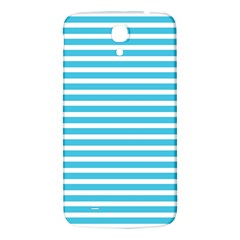 Horizontal Stripes Blue Samsung Galaxy Mega I9200 Hardshell Back Case by Mariart