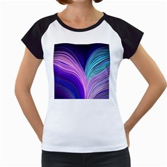 Color Purple Blue Pink Women s Cap Sleeve T by Mariart