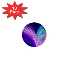 Color Purple Blue Pink 1  Mini Buttons (10 Pack)  by Mariart