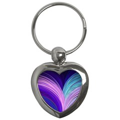 Color Purple Blue Pink Key Chains (heart)  by Mariart