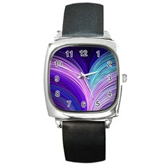 Color Purple Blue Pink Square Metal Watch by Mariart