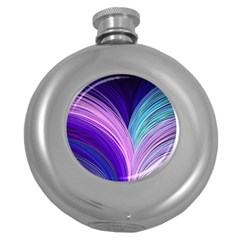 Color Purple Blue Pink Round Hip Flask (5 Oz) by Mariart