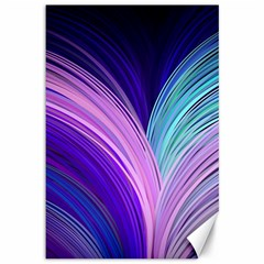 Color Purple Blue Pink Canvas 12  X 18   by Mariart
