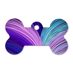 Color Purple Blue Pink Dog Tag Bone (one Side) by Mariart