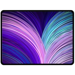 Color Purple Blue Pink Fleece Blanket (large)  by Mariart