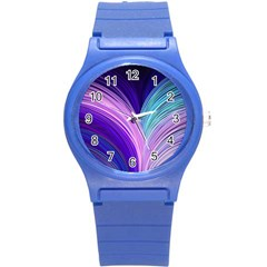 Color Purple Blue Pink Round Plastic Sport Watch (s) by Mariart