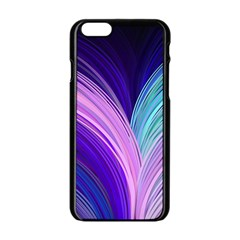Color Purple Blue Pink Apple Iphone 6/6s Black Enamel Case by Mariart
