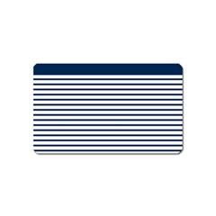 Horizontal Stripes Blue White Line Magnet (name Card) by Mariart