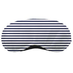 Horizontal Stripes Blue White Line Sleeping Masks by Mariart