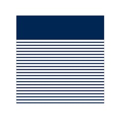 Horizontal Stripes Blue White Line Small Satin Scarf (square) by Mariart