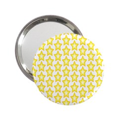 Yellow Orange Star Space Light 2 25  Handbag Mirrors by Mariart