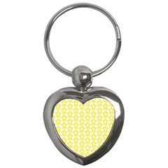 Yellow Orange Star Space Light Key Chains (heart)  by Mariart