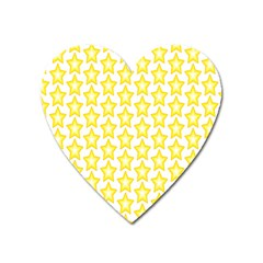 Yellow Orange Star Space Light Heart Magnet by Mariart