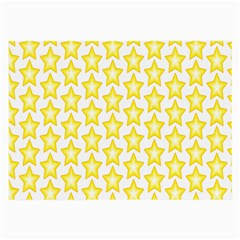 Yellow Orange Star Space Light Large Glasses Cloth (2 Side) by Mariart