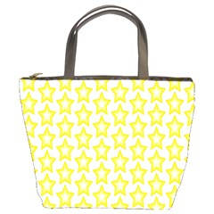 Yellow Orange Star Space Light Bucket Bags by Mariart