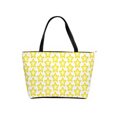 Yellow Orange Star Space Light Shoulder Handbags by Mariart