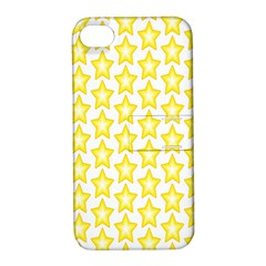 Yellow Orange Star Space Light Apple Iphone 4/4s Hardshell Case With Stand by Mariart