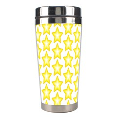 Yellow Orange Star Space Light Stainless Steel Travel Tumblers by Mariart