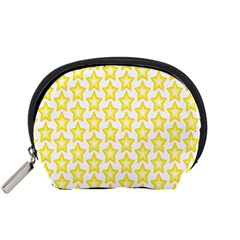 Yellow Orange Star Space Light Accessory Pouches (small)  by Mariart