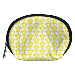 Yellow Orange Star Space Light Accessory Pouches (medium)  by Mariart