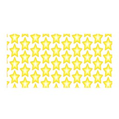 Yellow Orange Star Space Light Satin Wrap by Mariart