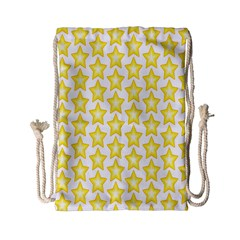 Yellow Orange Star Space Light Drawstring Bag (small)