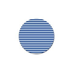 Horizontal Stripes Dark Blue Golf Ball Marker (4 Pack) by Mariart