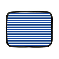 Horizontal Stripes Dark Blue Netbook Case (small)  by Mariart