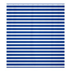 Horizontal Stripes Dark Blue Shower Curtain 66  X 72  (large)  by Mariart