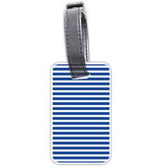 Horizontal Stripes Dark Blue Luggage Tags (one Side)