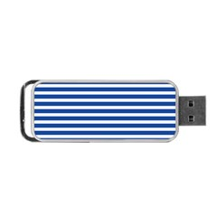 Horizontal Stripes Dark Blue Portable Usb Flash (two Sides) by Mariart