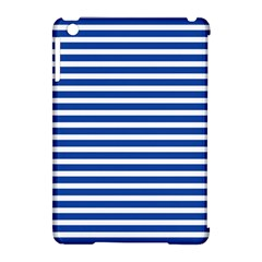 Horizontal Stripes Dark Blue Apple Ipad Mini Hardshell Case (compatible With Smart Cover) by Mariart