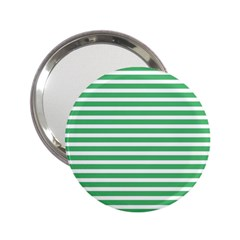 Horizontal Stripes Green 2 25  Handbag Mirrors by Mariart