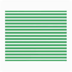 Horizontal Stripes Green Small Glasses Cloth by Mariart