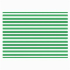 Horizontal Stripes Green Large Glasses Cloth by Mariart