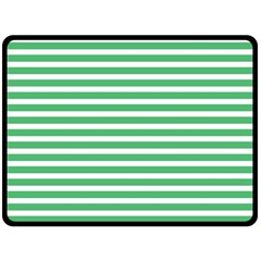 Horizontal Stripes Green Fleece Blanket (large)  by Mariart
