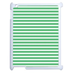 Horizontal Stripes Green Apple Ipad 2 Case (white) by Mariart