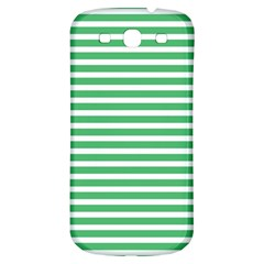 Horizontal Stripes Green Samsung Galaxy S3 S Iii Classic Hardshell Back Case by Mariart