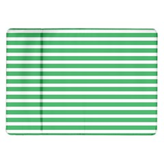 Horizontal Stripes Green Samsung Galaxy Tab 10 1  P7500 Flip Case by Mariart