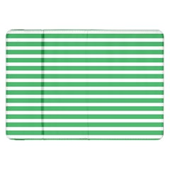 Horizontal Stripes Green Samsung Galaxy Tab 8 9  P7300 Flip Case by Mariart