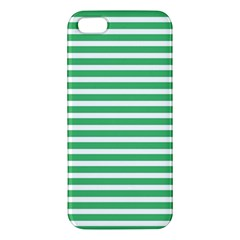 Horizontal Stripes Green Iphone 5s/ Se Premium Hardshell Case by Mariart