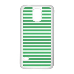 Horizontal Stripes Green Samsung Galaxy S5 Case (white) by Mariart