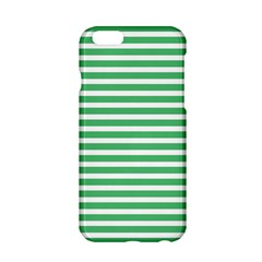 Horizontal Stripes Green Apple Iphone 6/6s Hardshell Case by Mariart