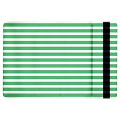Horizontal Stripes Green Ipad Air 2 Flip by Mariart