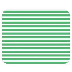 Horizontal Stripes Green Double Sided Flano Blanket (medium)  by Mariart