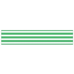 Horizontal Stripes Green Flano Scarf (small) by Mariart